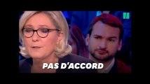 Les Insoumis se sont fait remarquer derrière Marine Le Pen pendant le débat