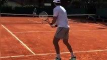 Tennis - Juan Martin Del Potro comes back... on clay !