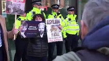 Julian Assange supporters gather outside Westminster court