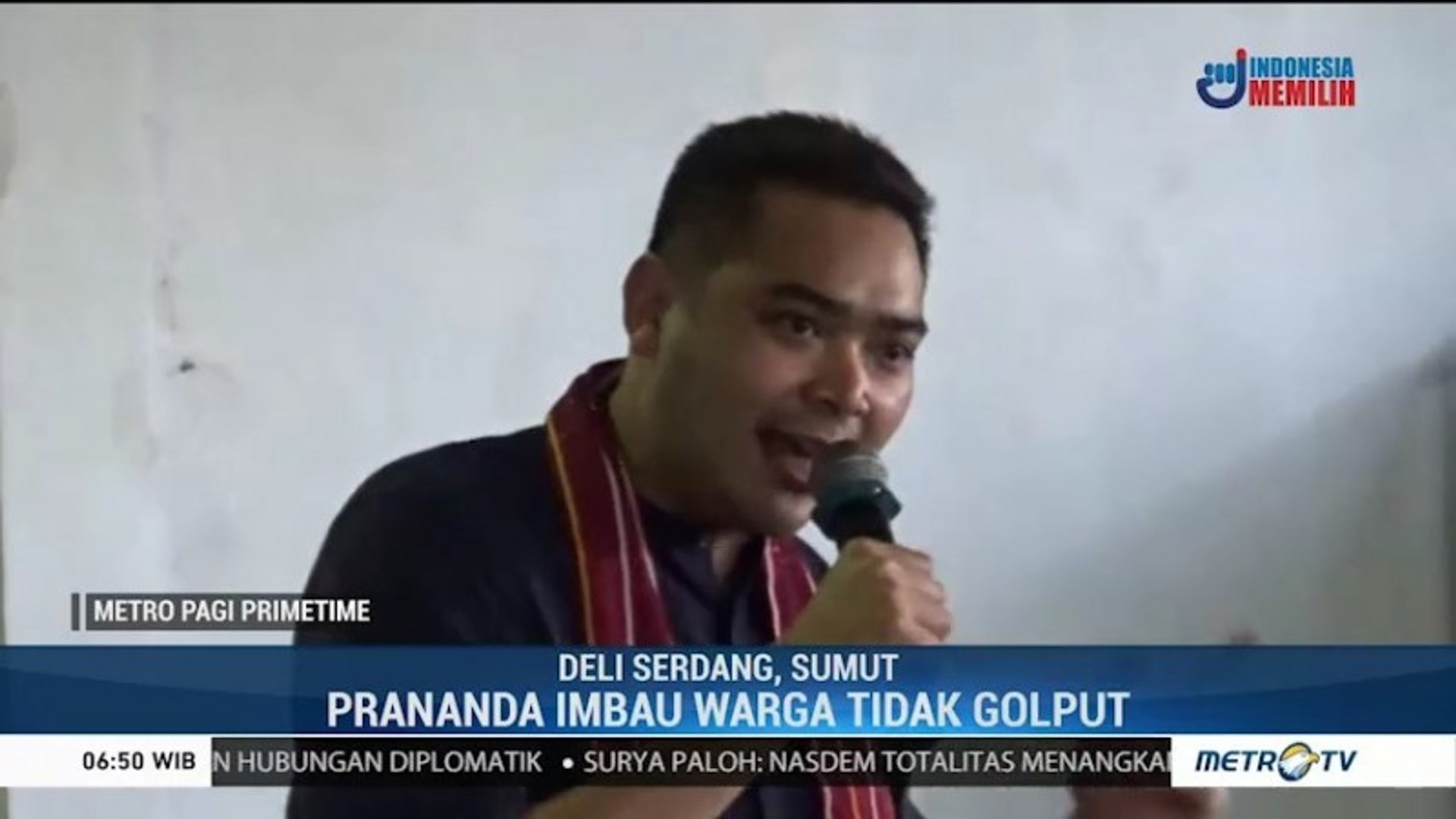 Prananda Paloh Sosialisasi Cara Mencoblos di Deli Serdang