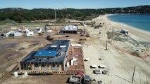 Le chantier des plages de Pampelonne vu du ciel