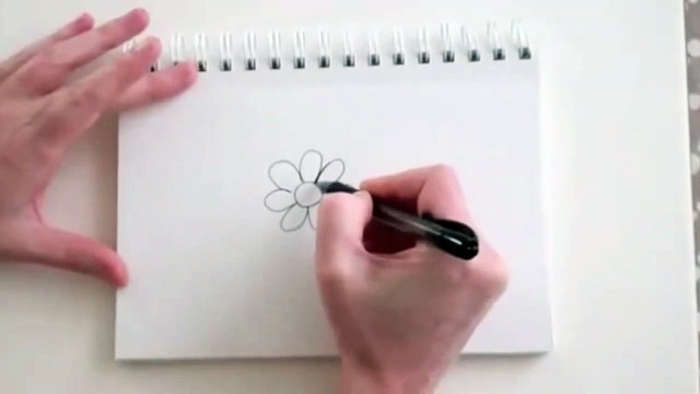 Drawing Flowers- How to Draw a Rose With Pencil