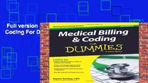 Full version  Medical Billing and Coding For Dummies, 2nd Edition Complete
