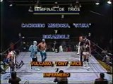 Cachorro Mendoza/Stuka/Rokambole vs Vulcano/Tony Arce/Infermero Jr (CMLL December 19th, 1986)