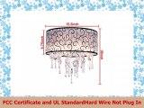 DINGGU Luxury Drum 4 Lights Flush Mounted Crystal Ceiling Lamp Modern Chandelier Pendant