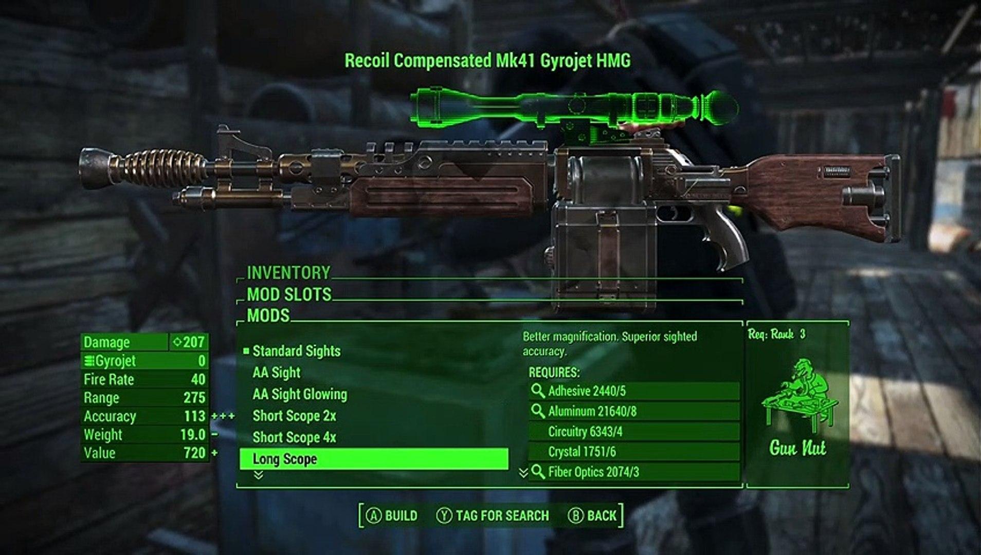 Fallout 4 Mk41 Gyrojet Heavy Machine Gun (Xbox One Mod)