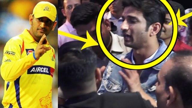 CSK VS RR  'Dhoni' Sushant Singh Rajput CELEBRATING IPL Victory  IPL 2019