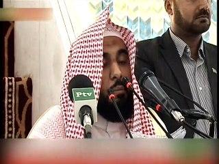 Imam-e-Kaaba lead Jummah prayer at Faisal Mosque