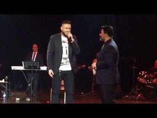 Fares Iskandar Is Congratulating Melhem Zain | فارس اسكندر يهنئ ملحم زين بسلامته إرتجالاً على المسرح