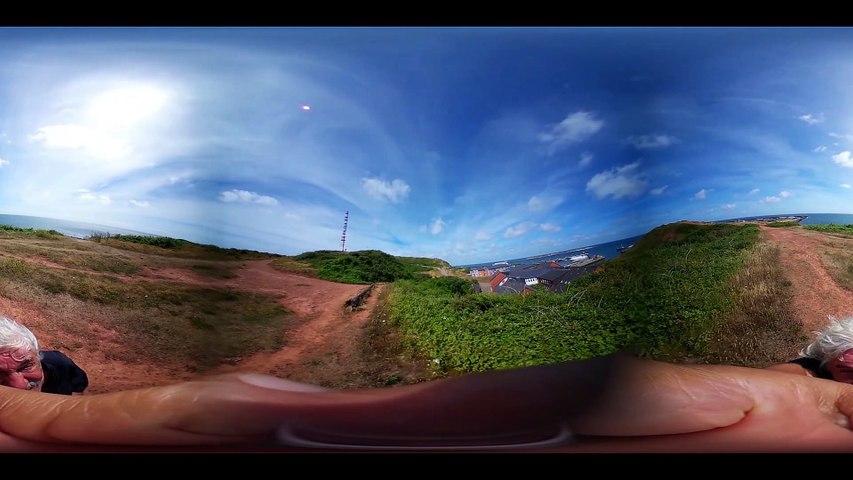 Helgoland-Mittelland bis Wetterstation-360 Grad Video