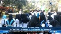 Relawan Jokowi di Majalengka Berangkat Lebih Awal ke GBK