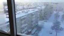 Etendre son linge en hiver en russie... Pas top pour les vêtements