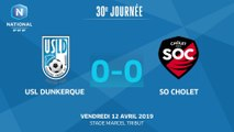 J30 : USL Dunkerque - SO Cholet (0-0), le résumé