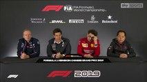 F1 2019 Chinese GP - Friday (Team Principals) Press Conference