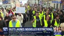 Gilets jaunes: Nouvelle restrictions