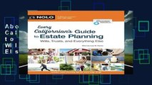 About For Books  Every Californian s Guide to Estate Planning: Wills, Trust   Everything Else  For