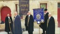 Meuse : intronisation de nouveaux chevaliers dans la commanderie Les Bulles d'or, confrérie du champagne