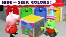 Peppa Pig plays Hide and Seek with the Funny Funlings and must Learn Colors Learn English to rescue the blind bags, opening and unboxing them when found in this family friendly full episode
