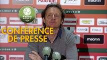 Conférence de presse RC Lens - Valenciennes FC (0-0) : Philippe  MONTANIER (RCL) - Réginald RAY (VAFC) - 2018/2019