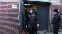 Police stopped Joey Barton from leaving Oakwell as they investigate an his alleged assault.