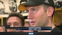 David Backes, Chris Wagner Say Bruins Pushed Back in Game 2 Vs. Maple Leafs