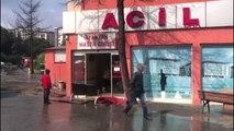 İstanbul- Göztepe Eğitim ve Araştırma Hastanesi'nin Acil Servisini Su Bastı