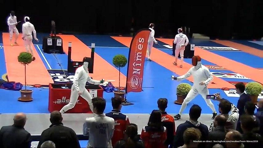 Circuit National Escrime élite Nîmes 2019 : Match de Barrage pour Tableau 64 dimanche 14 avril