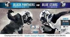 ELITE 2019 - Journée 8 - Black Panthers vs Blue Stars