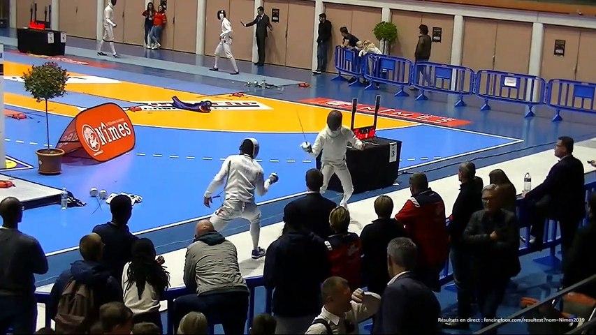 Escrime Nîmes 2019 Circuit National Elite Dimanche 14 Avril Tableau de 8 repêchage
