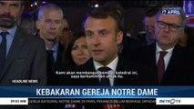 Presiden Prancis Janji Bangun Kembali Katedral Notre Dame
