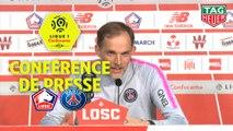 Conférence de presse LOSC - Paris Saint-Germain (5-1) : Christophe  GALTIER (LOSC) - Thomas TUCHEL (PARIS) / 2018-19