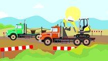 #Excavator Mini-and Colorful Trucks - Tree Planting   Véhicules - la Plantation d'Arbres. Un Conte De Fées Nouveauté