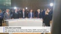 Social democrats narrowly beat ultraright in Finnish legislative elections