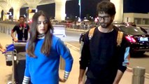 Shahid Kapoor & Mira Rajput Spotted Looking Casual Yet Stylish At The Airport