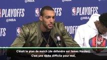 """Play-offs - Gobert : """"Difficile de défendre face à Harden"""""""