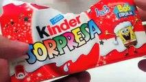 Christmas Kinder Surprise Eggs Unboxing - SpongeBob Box - kidstvsongs