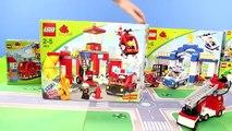LEGO DUPLO-Pompier, camions de pompiers, sapeurs Pompiers, Police, & Construction de petites Voitures Unboxing | Gertie S. Bresa