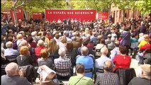 Acto electoral de Pedro Sánchez en Leganés