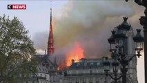 Les images impressionnantes de l'incendie en cours à Notre-Dame de Paris