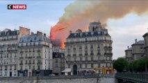 Incendie Notre-Dame de Paris : les images de la flèche qui s'effondre