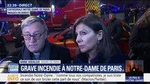 """Anne Hidalgo déplore """"une épreuve terrible"""" concernant l'incendie de Notre-Dame de Paris"""