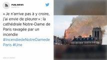 «Je n'arrive pas à y croire, j'ai envie de pleurer»: la cathédrale Notre-Dame de Paris ravagée par un incendie