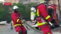 Incendie de Notre-Dame : les impressionnantes images de l'intervention des pompiers de Paris