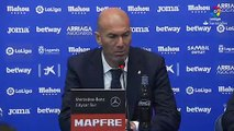Zinedine Zidane reacts after Leganes hold Real Madrid to 1-1 draw in La Liga