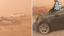 Terrifying 'dirt storm' caused apocalyptic driving conditions