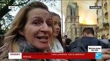 En larmes, les parisiens et les touristes ont assisté à l'incendie de la Cathédrale... Ils témoignent de leur émotion