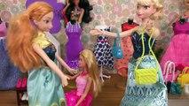 SHOPPING ! Elsa et Anna, les tout-petits au Magasin de Vêtements - Robes - Chaussures - Sacs à main