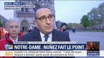 """L'incendie de Notre-Dame est """"maîtrisé"""", mais pas """"totalement éteint"""", indique Laurent Nunez"""
