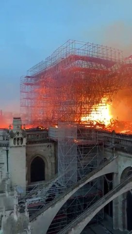 BREAKING: Exclusive footage of Notre Dame Cathedral fire