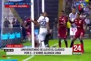 ¡Primer clásico del año es 'crema'!: Universitario ganó 3 -2 a Alianza Lima en Matute